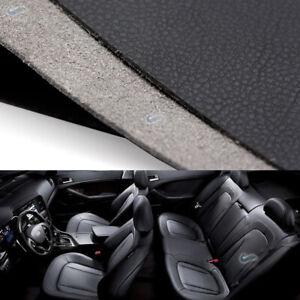 Black Leather Interior DIY Dashboard Door Handle Panel Armrest Cover 1.38*0.5M