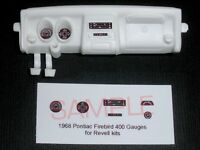 1968 PONTIAC FIREBIRD 400 GAUGE FACES! for 1/25 scale REVELL KITS