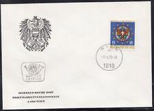 Österreich 1484 FDC Europäischer Gemeindetag. Glasfenster Rathaus Wien 1975