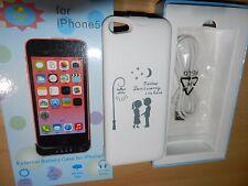 Zusatz Akku Batterie SchutzHülle Extern Tasche Cover Ladegerät Apple iPhone 5C