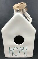 "RAE DUNN by Magenta TEAL LETTERS Square  Dimply Birdhouse  ""HOME"" New"