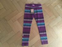 NWT Juicy Couture New & Gen. Girls Age 6 Purple Striped Cotton Leggings & Logo