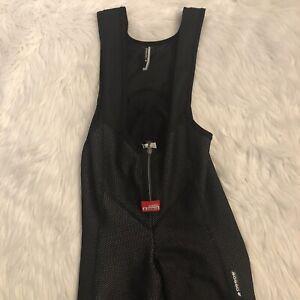 Assos airblock bib tights size large unpadded stirrups black