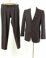 HUGO BOSS Anzug Gr. 90 (Schlank) Wolle Sakko Hose Business Suit