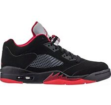 NIKE AIR JORDAN 5 V RETRO LOW ALTERNATE BLACK-GYM RED Mens SZ 10 (819171-001)