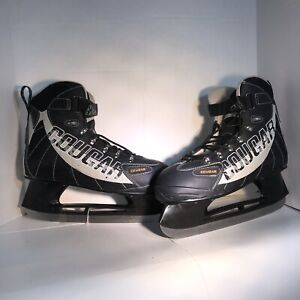 COUGAR Skates Ice Hockey 558 Soft Boot Size 13 Black MINT CONDITION