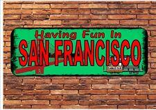 San Francisco Style Vintage Fantaisie Plaque Murale Signe métallique San Francisco SIGNE