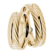 10K Yellow Gold Comfort Fit His & Hers Matching Wedding Band Set 6mm