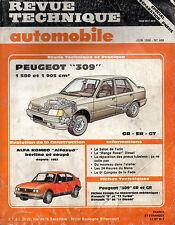 RTA revue technique automobile n° 468 PEUGEOT 309 GR SR GT 1986