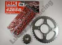 RED RK Chain and JT sprocket kit for Suzuki EN125 2A 03-17 heavy duty standard T
