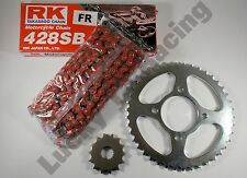 RED RK Chain and JT sprocket kit Suzuki EN125 - 2A 03-17 heavy duty standard T
