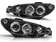 RINGS HEADLIGHTS RHT LPPE02 PEUGEOT 206 1998 1999 2000 2001 2002 BLACK