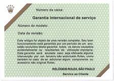 ROLEX VINTAGE CERTIFICATO DI GARANZIA SERVIZIO BRASILE GMT MASTER PEPSI 1675 16750