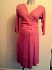 PINK PIXIE MATERNITY BRIGHT PINK 3/4 SLEEVE TEA DRESS SIZE XL UK 12-14