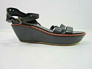 Camper Black Leather Damas Platform Sandals Size 41 / UK 8