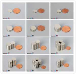 "Multiple Size 12.7mm  1/2""dia  Rare Earth Neodymium Disc Magnets"