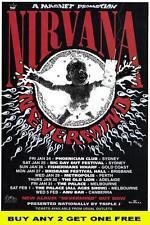 NIRVANA Nevermind laminated Australian Tour Poster