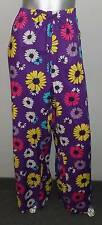 CACIQUE NEW Purple/Yellow/Pink Floral Print Tie Waist Pajama Pants sz 34/36W