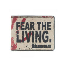 THE WALKING DEAD FEAR THE LIVING BIFOLD WALLET LICENSED LEATHER POP CULTURE