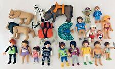 Playmobil preowned bundle: 21 women, girls, females, children, animals & baby