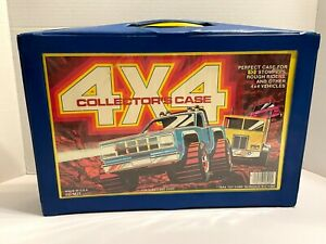 TARA TOY CORP 4x4 VINTAGE COLLECTORS CASE ONLY HOLDS STOMPERS, ROUGH RIDERS BLUE