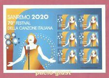 Italia 2020  SANREMO 70° FESTIVAL  Foglietto Nuovo (6 Francobolli, no barre