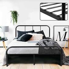 Eggree Double Bed 4ft6 Stable Metal Bed Frame With 2 Headboard for Kids Adults S