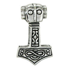 Sterling Silver Thor Hammer Thor's Mjolnir Pendant Norse Asatru Viking Jewelry