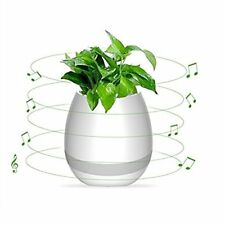 Bluetooth Speaker Smart Touch Music LED Night Light Planter Plant USB Charge