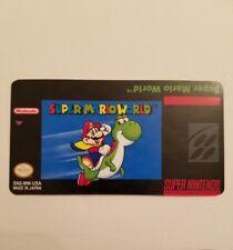 Super Mario World Snes Cartridge Replacement Label Sticker