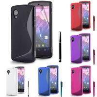 Schutzhülle für Google Nexus 5 TPU Silikon Flip Case Cover Etui
