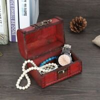 Vintage Wooden Jewelry Storage Box Ring Earring Organizer Jewelry Show Case Gift