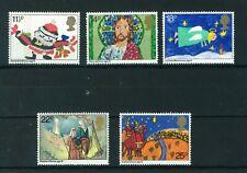 GB 1981 Christmas full set of stamps, MNH. Sg 1170-1174.
