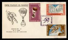 1966 PARAGUAY FDC SPACE GEMINI V CACHET COMBO