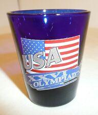 USA XXVI Olympiad Shot Glass Atlanta Olympic Games 1996 Novelty Souvenir Blue