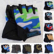 1 Pair Kids Bike Half Finger Gloves Breathable Anti-Slip Sports Riding Mittens