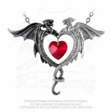 NEW Alchemy Gothic COEUR SAUVAGE HEART PENDANT NECKLACE Red Swarovski P446