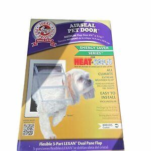 Ideal Pet Products Airseal Pet Door Medium Flap Size 65/8 x 11 1/4 Heat & Cold
