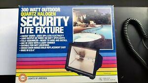 Outdoor Security Lite Fixture Dimmable 300 Watt Quartz Halogen Bulb Include