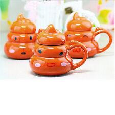 Novelty Poo Shaped Ceramic Coffee Mug Tea Cup Water Pot with Lid #DF