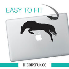 JUMPING Horse MacBook adesivi in vinile nero | Laptop Adesivi | MacBook Decalcomanie