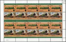 1911 North Eastern Railway (NER) Class Z (LNER C7) 4-4-2 Train 20-Stamp Sheet