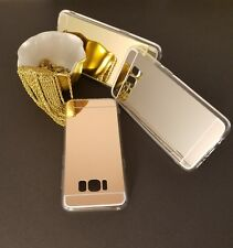 Samsung S8 Cell Phone Case Cover Protector Gold Mirror Reflective