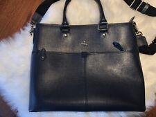 Vivienne Westwood Mens Leather Shoulder / Messenger Bag Navy