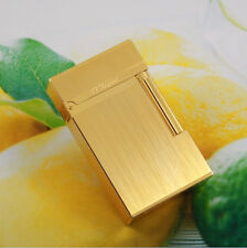 S.T Memorial Golden Wire drawing lighter Bright Sound ! Free Shipping 61#