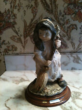 Vintage 1980 Girl With The Broom-Gullivers World Figure Collections Nm.