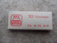 unbenutzter Satz DDR 10 Stk. KFZ Sicherungen 16A 6x25 Trabant Wartburg Multicar