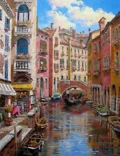 "SAM PARK ""Ponte Longo"" Hand Embellished & Hand Signed Giclee on Canvas with COA!"