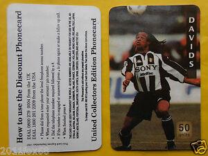 1997 phone cards 50 units davids juventus schede telefoniche 1997 telefonkarten