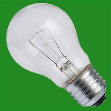 2x 60W à Variation Transparent GLS Standard Incandescent Ampoule Es E27 Vis